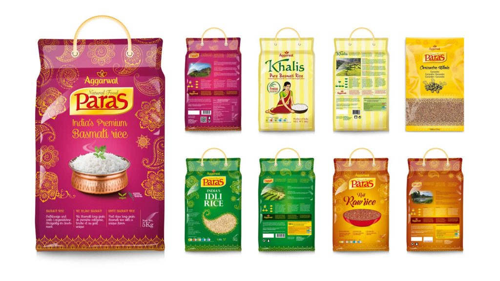 Aggarwal Riz Paras packaging design par l'Agence Packaging Satellites Design