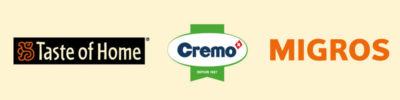 Logo Taste of Home Cremo Migros clients de l'Agence Packaging Satellites Design